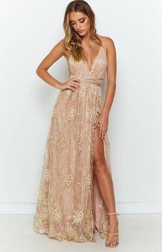 Madeline Formal Dress Rose Gold – Beginning Boutique Gold Formal Dress, Gold Prom Dresses, Grad Dresses, Formal Dresses, Wedding Dresses, Rose Gold Long Dress, Gold Dress Bridesmaid, Rose Gold Sequin Dress, Bridesmaids