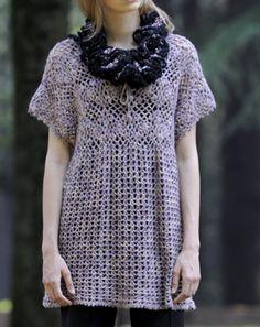crochet tunic or shirt top