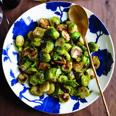 Spicy-and-Garlicky Brussels Sprouts | These sprouts get deeply sweet as they brown in the skillet.
