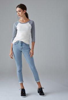 Mid-Rise Skinny Jeans   Forever 21   #forever21denim