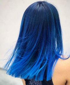 dyed hair Cool And Trendy Hair Colors Ideas to Try Right Now Blue Ombre Hair, Ombre Hair Color, Hair Color Balayage, Blue Tips Hair, Blue Hair Highlights, Beautiful Hair Color, Cool Hair Color, Hair Color Ideas, Vivid Hair Color