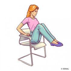 6Ejercicios con una silla para tener unabdomen plano entres semanas