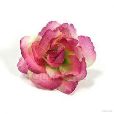 """Ansteckrose, Haarrose in magenta-violett-grün, Modell """"Petty Rose"""""""