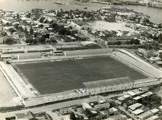 """Estádio Ismael Benigno, mais conhecido como """"Estádio da Colina"""". Acervo: Arquivo Público Municipal de Manaus."""