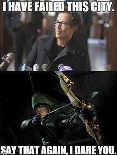 Arrow and the flash Arrow Cw, Arrow Oliver, Team Arrow, Arrow Quote, Arrow Felicity, Arrow Funny, Arrow Memes, Superhero Shows, Superhero Memes