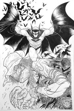 Batman and Scarecrow by Rafael Grampa