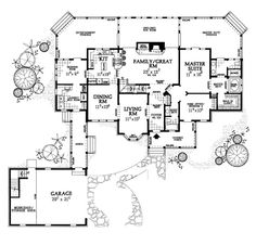U-shaped House Plans | House Plan # 741017 - and house plan 2 with the court yard