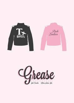 Grease poster with T-Birds and Pink Ladies jackets Grease Party, Grease Movie, Grease 1978, Grease Musical, Grease Theme, Grease 2, Movies Showing, Movies And Tv Shows, Grease Is The Word