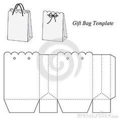 Interesting Gift Bag Template Stock Vector - Illustration of graphics, brand: 48154685 Diy Gift Box, Diy Box, Diy Gifts, Gift Boxes, Best Gifts, Paper Gift Bags, Paper Gifts, Diy Paper, Paper Box Template