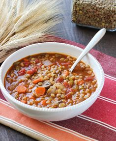 vegan lentil barley stew.  looks different enough from my standard lentil soup to give it a try!