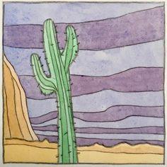 Watercolor Illustration, Watercolour, Cactus, Illustrations, Instagram, Pen And Wash, Watercolor Painting, Watercolour Illustration, Cactus Plants