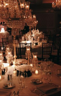 Elegant evening wedding ~ Photograph by: La Storia Foto