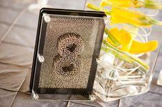 DIY wedding table number nail art