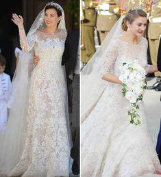 Princess Alexandra of Luxembourg wears similar dress to royal wedding as Kate Middleton's Jenny Packham gown - hellomagazine.com