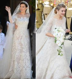 Princess Alexandra of Luxembourg wears similar dress to royal wedding as Kate Middleton's Jenny Packham gown - hellomagazine.com