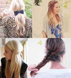 4 Еasy Hair Styles for Long Hair
