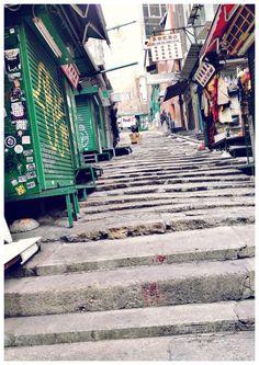 Stone Slabs Street (石板街) on Pottinger Street (砵典乍街) in Central (中環), Hong Kong