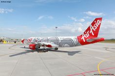 AirAsia 100th Airbus A320. Dragon Livery. 9M-AHQ. AirAsia photo.