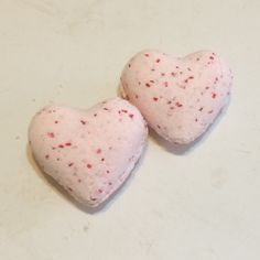Two Heart Shaped Cinnamon Bark Bath Bombs-Handmade by HollysAbstractArt on Etsy