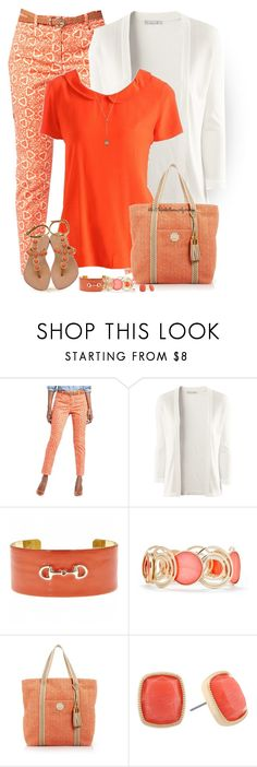 """""""Printed Cropped Pants"""" by tufootballmom ❤ liked on Polyvore featuring Jones New York, H&M, Fornash, New Directions, Henri Bendel, Monet and Ikuria"""