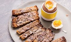 Soft-boiled egg with anchovy toast.  This source shows a new innovative way to cook eggs and its very understandable. It also includes some other delicious breakfast recipes.