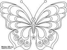 Картинки по запросу бабочка трафарет