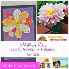 Mothers Day Crafts, Activities, and Printables for Kids on modernmami.com #MothersDay #kidscrafts #printables