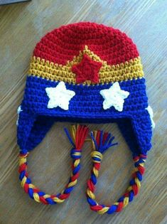 Wonder Woman crochet beanie