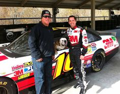 Me and dad with #NASCAR driver Greg Biffle - Go #16