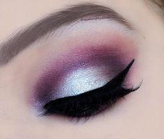 Purple & silver party look