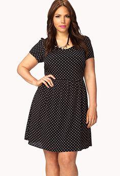 Sweet Polka Dot Dress | FOREVER21 PLUS - 2054253711