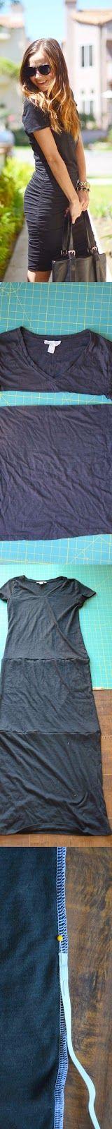 yo elijo coser: DIY: hacer un vestido fácil con 3 camisetas y un elástico