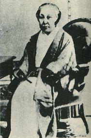 Japanese Imperial family's antique photograph. Niihata Tamiko. Meiji empress's Mother.