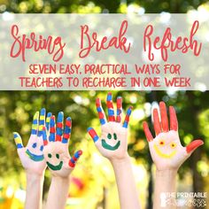 Spring break is a time for teachers to rest, relax, and rejuvenate in order to finish the school year. This article includes seven easy and practical spring break tips for teachers. These seven tips will help teachers make the most of their week off. Here's a hint: the first one starts before you even leave school!