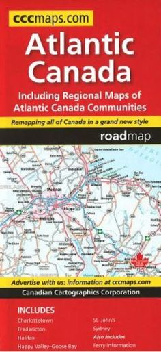 Buy map: Atlantic Canada, Road Map by Canadian Cartographics – YellowMaps Map Store