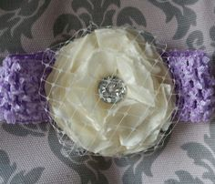 Emma A beautiful flower with a bling by PsalmandSanaa on Etsy