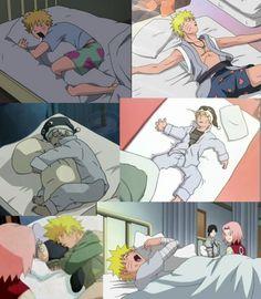 Naruto dormindo!