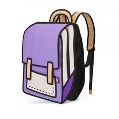35ab8b2de23f Purple School Style - 2D Bag