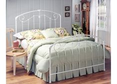 A lightly scaled, Victorian-style bed that marries interesting scrollwork with vivid castings. The set-up possibilities, whether it be a link spring and trundle or box spring and mattress, make this bed a versatile favorite. The Maddie is a perfect choice for any girl's first bed.  Materials Metal (Cast Metal) Color-Fi