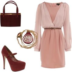 Maroon, Blush & gold: love the gorgeous accessories!