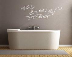 Wandtattoo - Ein heißes Bad & ein gutes Buch - Wandtattoo - ein Designerstück von CatrinKerschl bei DaWanda