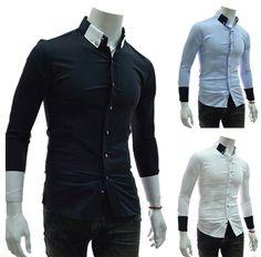 Men's Contrasting Button Down Shirt