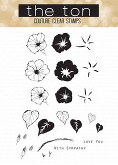 Stamp beautiful layered morning glories on your papercrafts with our Wild Morning Glories stamp set. This set comes with a printed layering guide. - 4x6 inches - 24 stamps - Made of photopolymer - Mad