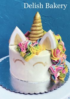 Unicorn cake for a little girl's birthday. Little Girl Birthday, Little Girls, Treat Yourself, Delish, Unicorn, Bakery, Birthday Cake, Treats, Desserts