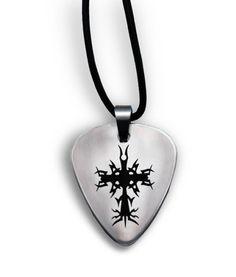 Guitar Pick Cross Necklace