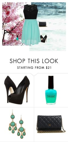 """""""142"""" by fhadzic ❤ liked on Polyvore featuring Giuseppe Zanotti, R U S H By DENIS & CHARLES and Chanel"""