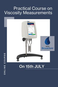 Attend the Practical Course on Viscosity Measurements. Join us on 15th July to learn proper test method procedures and types of fluid behaviour through information, activities, and techniques that can be easily understood and applied. To enrol, please contact rajendra.parkar@ametek.com University Courses, Center Of Excellence, Training Schedule, Centre, Join, How To Apply, India, Activities, Learning