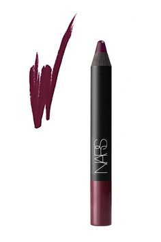 Our Favourite Red Wine Lipsticks  #refinery29  http://www.refinery29.uk/red-wine-berry-lipsticks#slide-2  Nars' velvet lip pencils deserve their cult status, giving the precision of a lip liner with the full colour coverage of a highly pigmented.