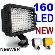 160 LED CN-160 Dimmable Ultra High Power Panel Digital Camera / Camcorder Video Light,