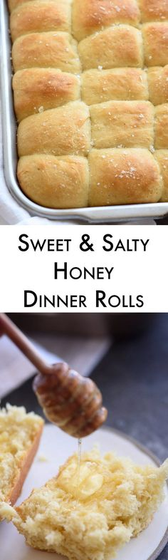 I've tried dozens of recipes and these soft honey dinner rolls are the best ones I've ever made! We sweeten them with honey and top with honey butter & salt for the perfect finish.